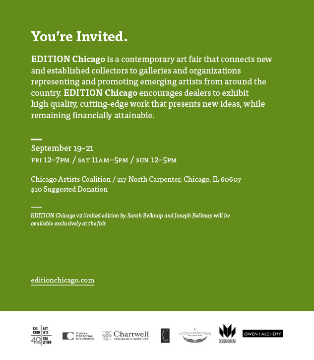 Visit EDITION Chicago Sept 19–21, 2014