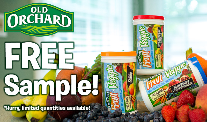Old Orchard Fruit & Veggie - Free Sample Offer