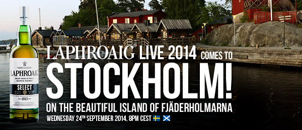Laphroaig Live 2014 comes to Stockholm! On the beautiful island of Fjäderholmarna. Wednesday 24th September 2014, 8pm CEST