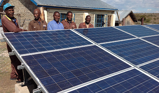 Solar power at Mwituria School