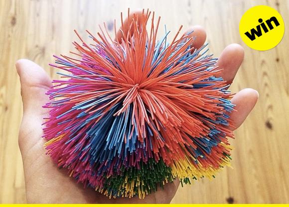 A rubbery Koosh ball