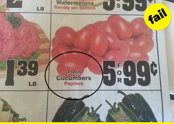 Those aren't cucumbers.