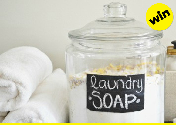 Make your own laundry soap.