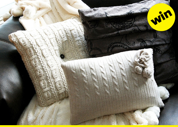 sweater pillows!