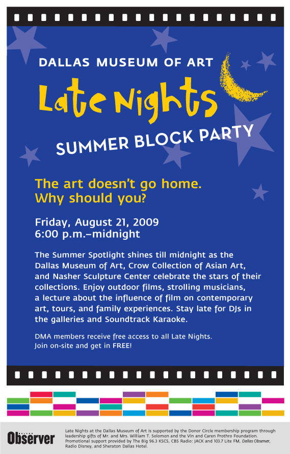 Late Night Summer Block Party