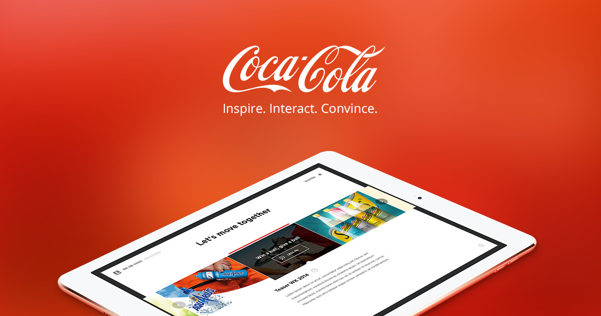 Coca Cola iPad magazine